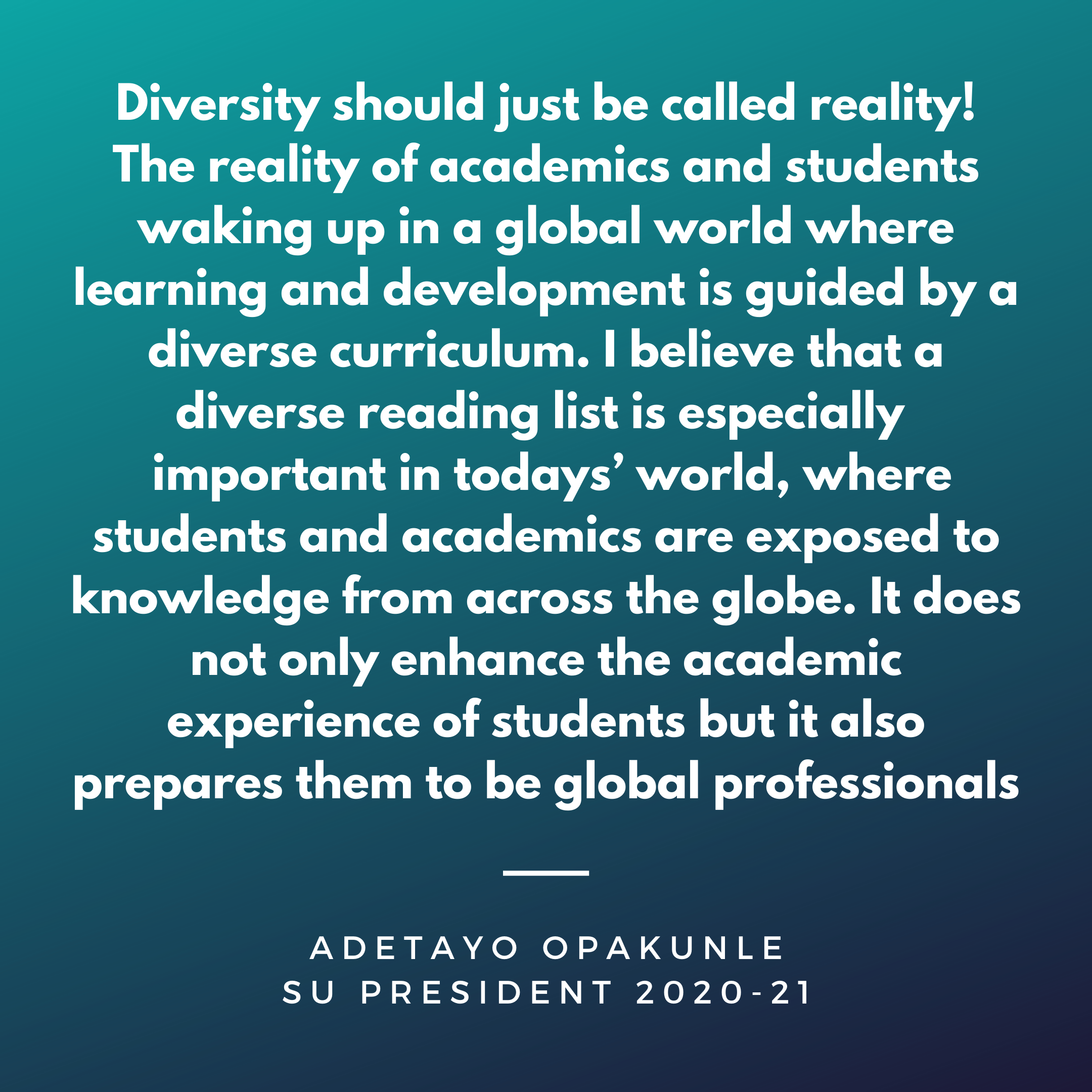 ''Diversity should just be called reality! The rea